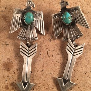 Navajo Turquoise Sterling Silver Thunderbirds